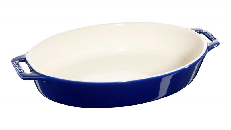 Ovalt fad, mørkeblå, 36x21cm | Tilberedning | Staub 0