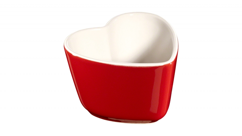 Pack 2 mini ramequin forma corazón | Minis de cerámica | Staub 0