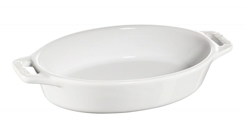 Ovalt fad, hvid, 22x13cm | Tilberedning | Staub 0