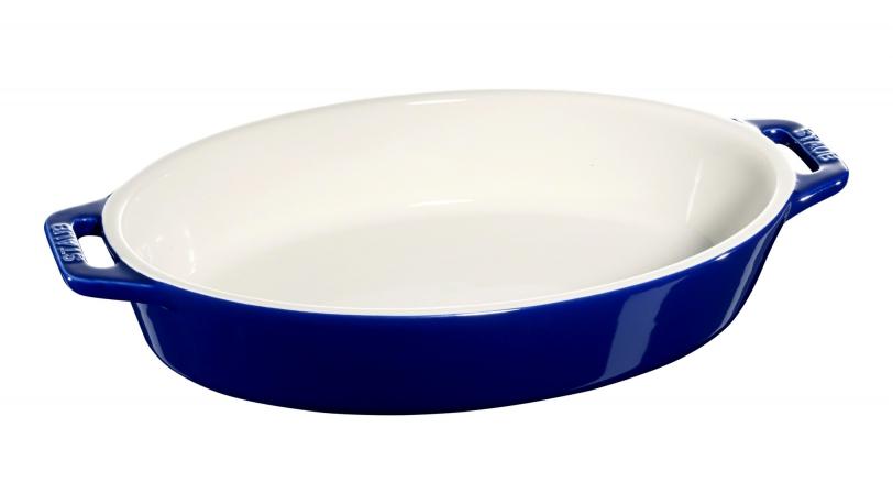 Ovalt fad, mørkeblå, 28x17cm | Tilberedning | Staub 0