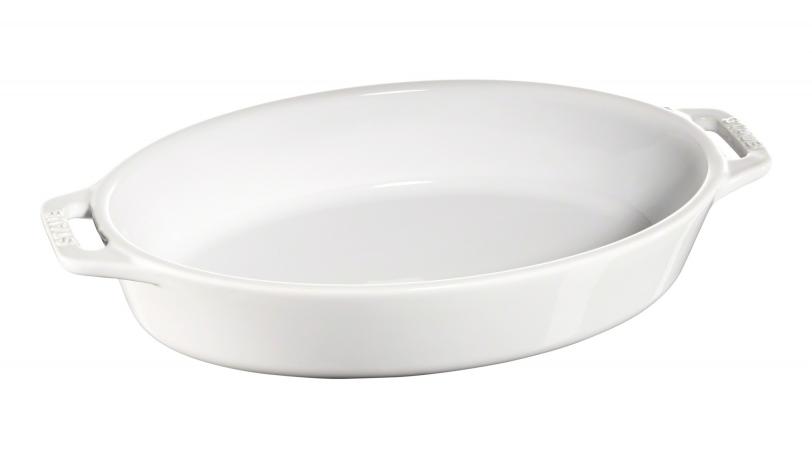 Ovalt fad, hvid, 28x17cm | Tilberedning | Staub 0