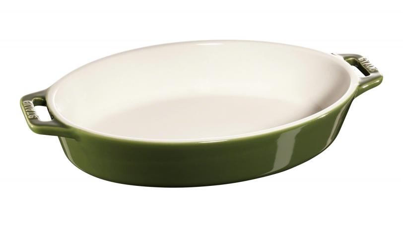 23cm Oval Ceramic Baking Dish Basil | Cooking | STAUB 0
