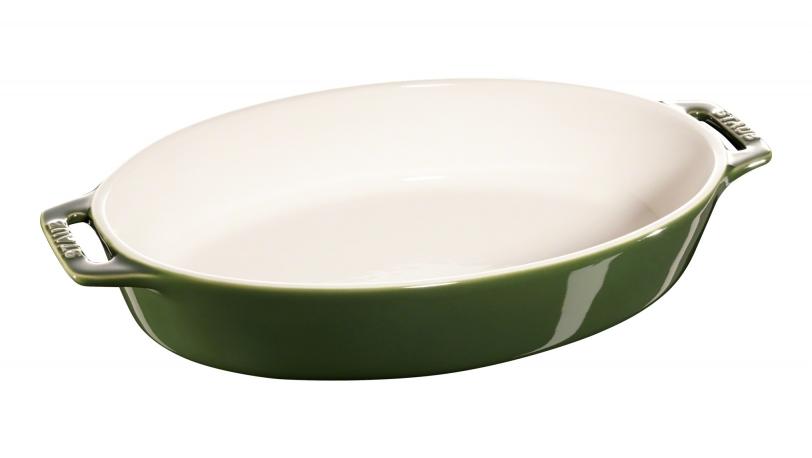 29cm Oval Ceramic Baking Dish Basil   Cooking   STAUB 0