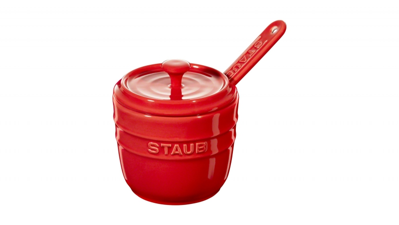 Sugar Bowl with spoon 9cm, cherry | Tableware | STAUB 0
