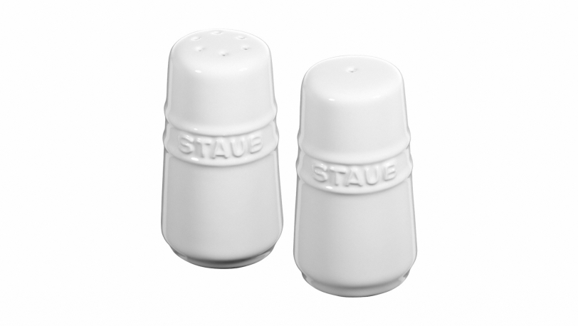 Salt and Pepper Shaker, White | Tableware | Staub 0