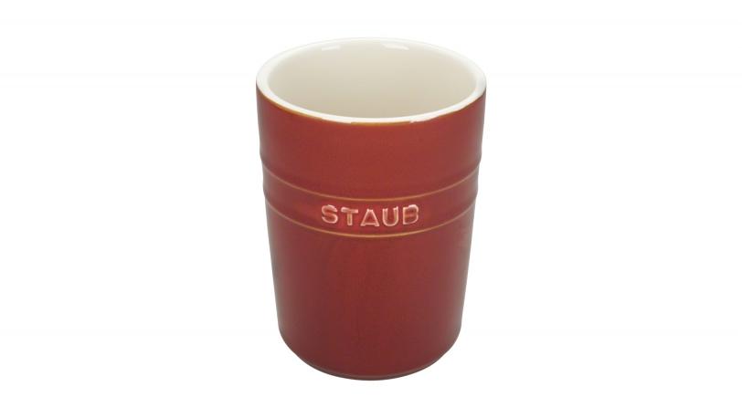 Rustic Ceramic Utensil Holder