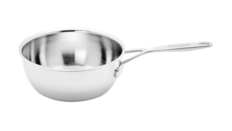 18cm 1.5l Stainless Steel Conical Sauteuse Pan | Industry | DEMEYERE 0