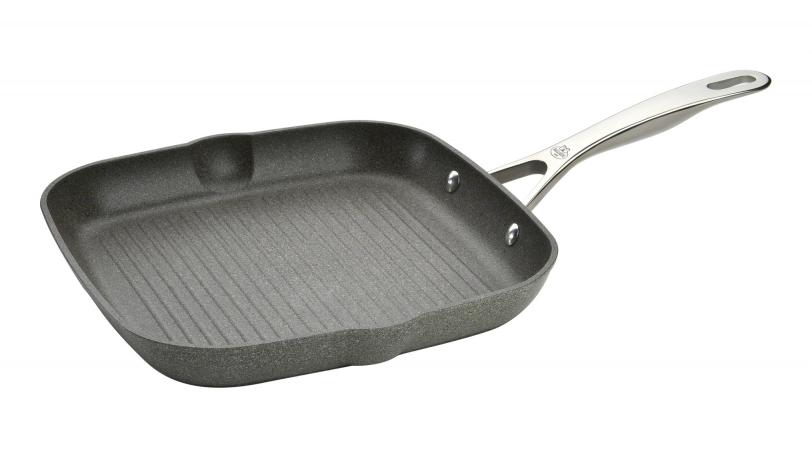 28cm Aluminium Square Non Stick Grill Pan   Salina Granitium   BALLARINI 0