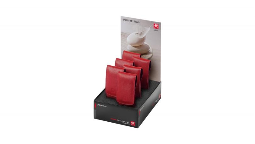 Display 6x Pocket-etui, rood, 3-dlg.