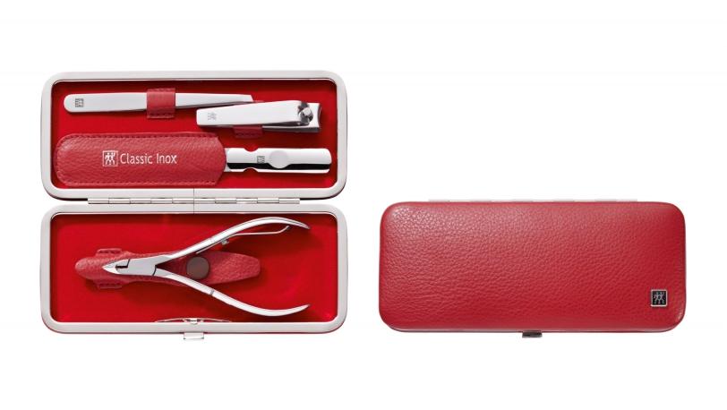 Estuche con boquilla, piel legítima, rojo, 4 pzs. | Estuches de manicura ZWILLING® Classic Inox | ZWILLING 0