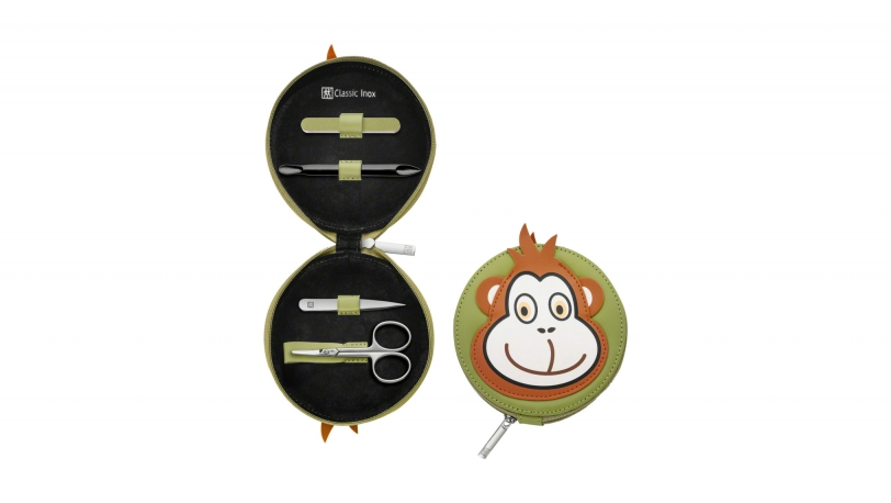 Leather Monkey Design Children's Manicure Set, 4 pcs. | ZWILLING® Classic Inox Children's Cases | Zwilling 0
