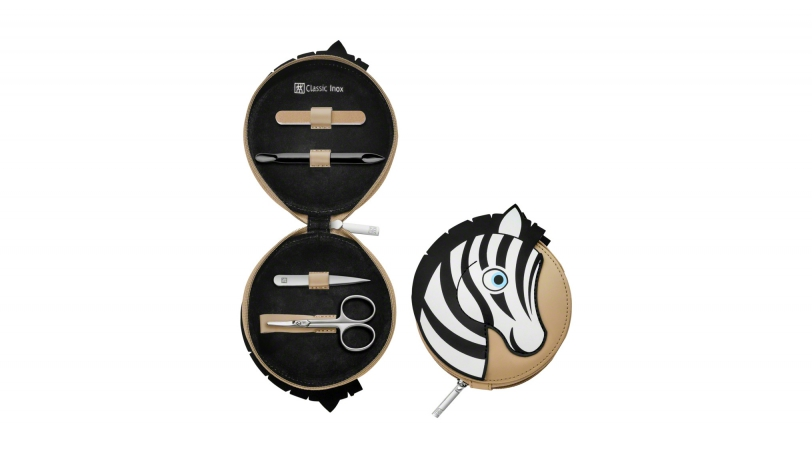 Leather Zebra Design Children's Manicure Set, 3 pcs. | ZWILLING® Classic Inox Children's Cases | Zwilling 0