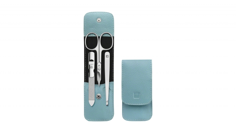 Etui avec bouton pression, cuir de boeuf, ice blue, 3 pcs. | ZWILLING® Classic Inox Etuis | ZWILLING 0