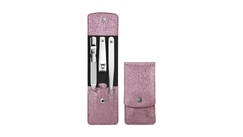 Calf Leather Pocket Manicure Set, Pink, 3 Pcs. | ZWILLING® Classic Inox Manicure Cases | Zwilling 0