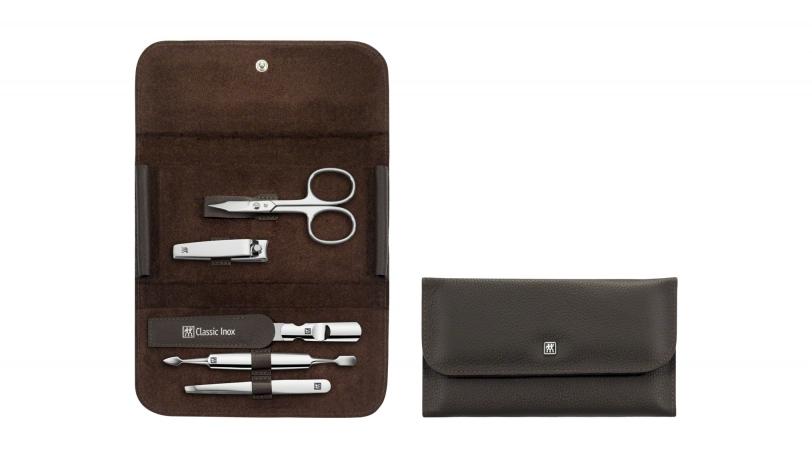 Estuche de manicura marrón 5 piezas | Estuches de manicura ZWILLING® Classic Inox | ZWILLING 0