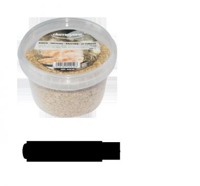 Boîte avec des sciures de bois