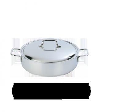 Lage kookpot met deksel 28 cm