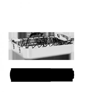 Röstpfanne mit Röstgitter