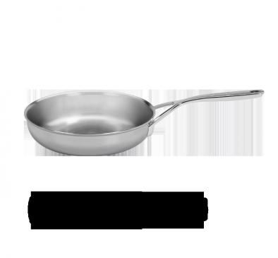 Poêle, 24 cm, acier inoxydable 18/10